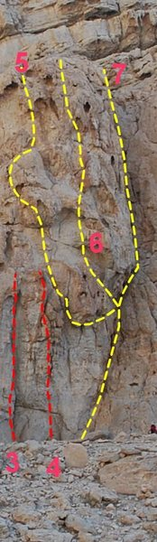 Rock Climbing Photo: Sidewinder is route number 5