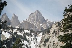 Rock Climbing Photo: mt whitney 14,505ft ca