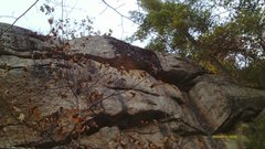 Rock Climbing Photo: Here is th top part of the route