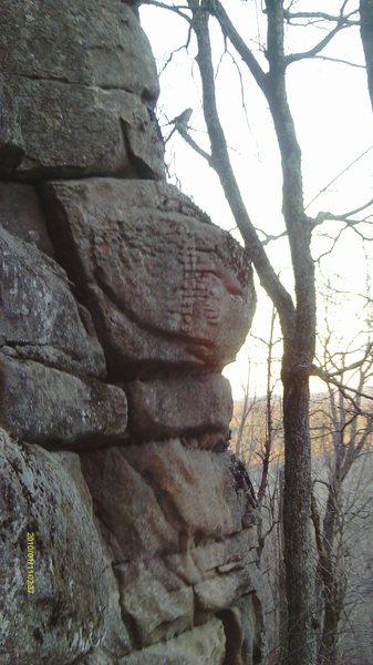 Rock Climbing Photo: You can see the vertabrea descrided in the descrip...