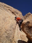 Rock Climbing Photo: Me at the balancy crux