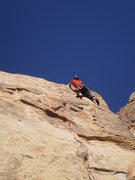 Rock Climbing Photo: A good view of the upper part of this route.