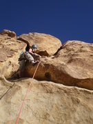 Rock Climbing Photo: Mary after pulling the bouldery start.  Now for th...