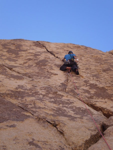 Rock Climbing Photo: Passed the tough transition, now for the sustained...