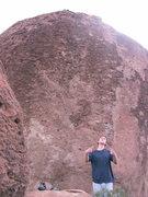 Rock Climbing Photo: opposite side of mine boulder. Brutal v8-v9 unfini...
