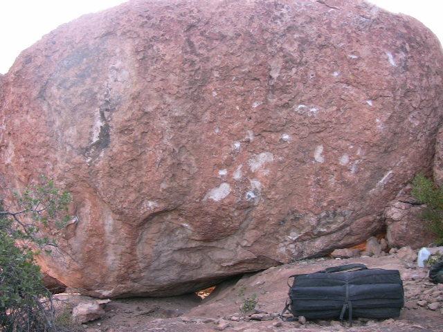 sarcophagus boulder above atlantis