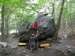 Rock Climbing Photo: Primate V3 Smugglers VT