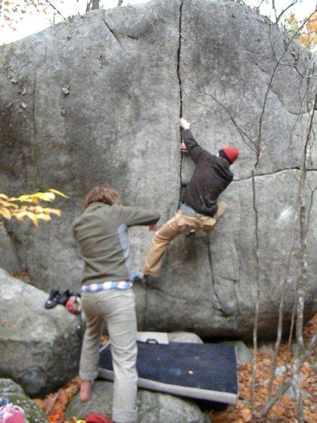 Rock Climbing Photo: Crack of Pain- Jamie Kinnaird