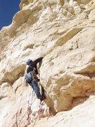 Rock Climbing Photo: Beaking through a bulge.