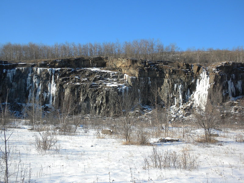 Rock Climbing Photo: Ice starting to form.  Picture taken at about 3:00...