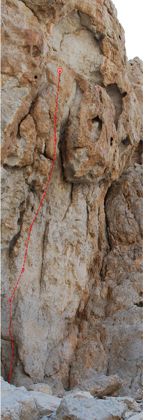 "Rock Climbing Photo: Here is a topo of ""Pokemon"" 12c. I have ..."