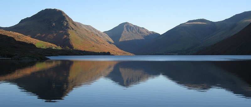 Anothe view of Wastwater Lake ,and in the center Great Gable with the Napes ridges