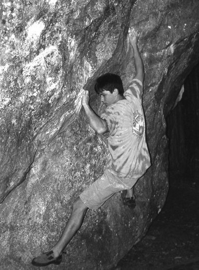 Bruce bouldering at Camp 4.<br> Photo by Blitzo.