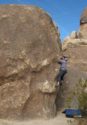 Rock Climbing Photo: Danny on The Morbid Mound Boulder. Photo by Blitzo...
