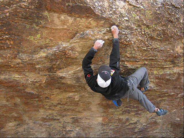 Rock Climbing Photo: Frank Santos on the Tuolumne Boulder. Photo by Bli...
