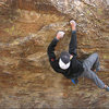 Frank Santos on the Tuolumne Boulder.<br> Photo by Blitzo.