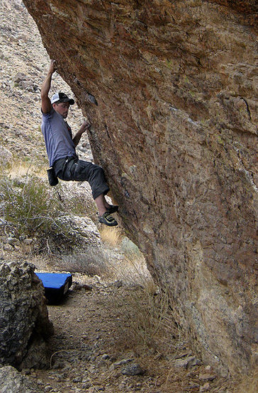 Danny on the Tuolumne Boulder.<br> Photo by Blitzo.
