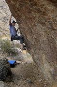 Rock Climbing Photo: Danny on the Tuolumne Boulder. Photo by Blitzo.