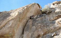 Rock Climbing Photo: Past the chimney crux.