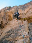 Rock Climbing Photo: Laine starts up the OW section on the first ascent...