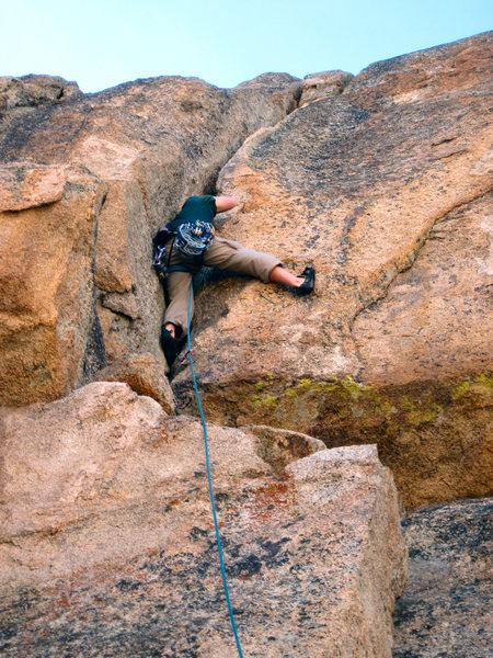Rock Climbing Photo: Laine on FA