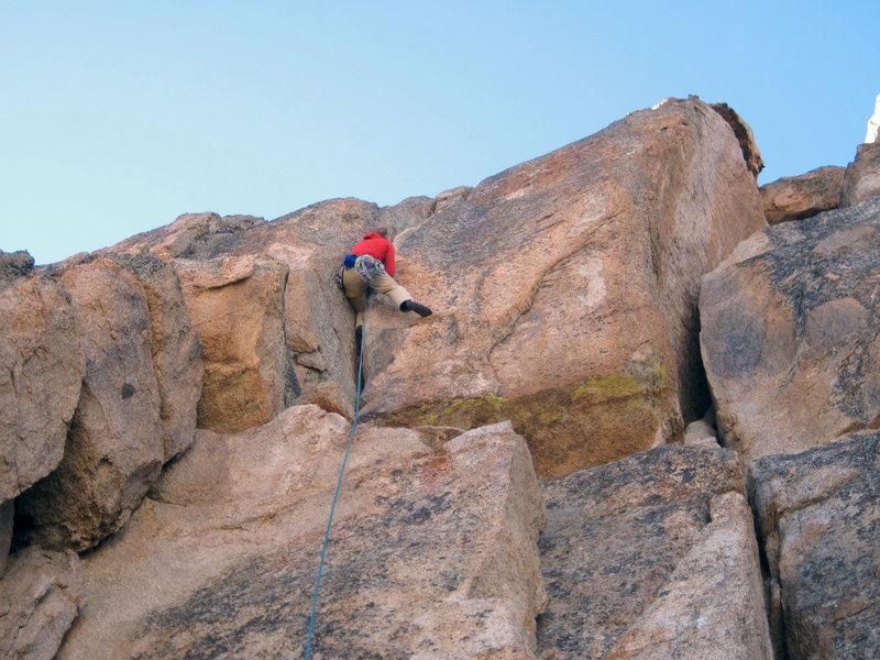 Rock Climbing Photo: Karsten climb a new OW