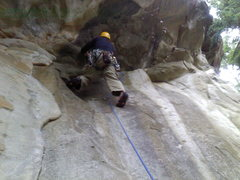 Rock Climbing Photo: Seth Lundeen rocking the traverse