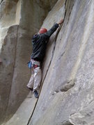 Rock Climbing Photo: Me trying to remember how I usually get out of the...