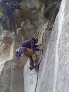 Rock Climbing Photo: Joe W. decides to layback it.