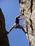 Rock Climbing Photo: This is Josh leading the route to the left of &quo...
