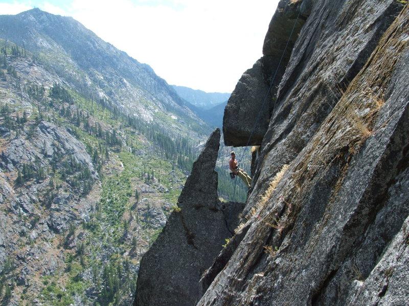 Rock Climbing Photo: Seth Rapping off Careno