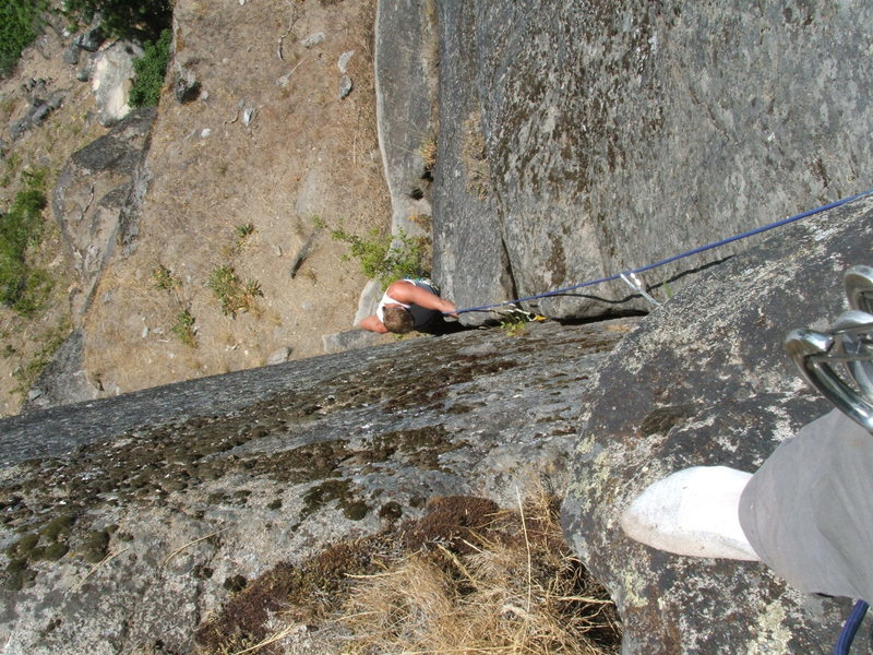 Seth Lundeen Rocking the 3rd pitch of Careno Corners (5.9)