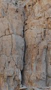 Rock Climbing Photo: Here is a good pic of this route. Follow the crack...