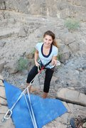 Rock Climbing Photo: first time rappelling