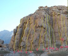 "Rock Climbing Photo: This is the topo for the ""Left Side"""