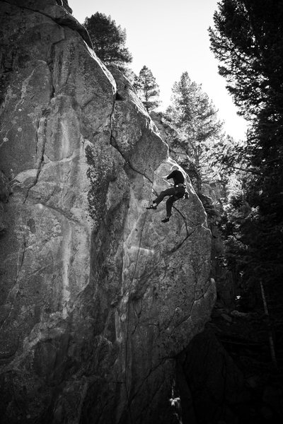 Rock Climbing Photo: Airborne off Strange Science.