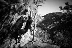 Rock Climbing Photo: Bouldering near Monkey Traverse in Boulder, CO.