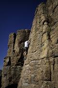 Rock Climbing Photo: Fun 5.8 slab.