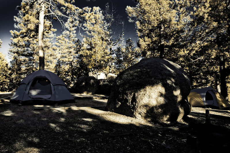 Rock Climbing Photo: The main campground at Devil's Head.
