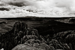Rock Climbing Photo: Pike's Peak and Devil's Head climbing areas taken ...