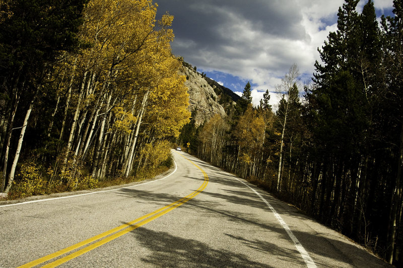 Rock Climbing Photo: CO Hwy 82 in the fall.