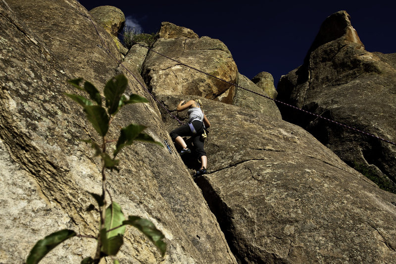 Rock Climbing Photo: One of the moderate (5.2 maybe?) slab climbs in th...