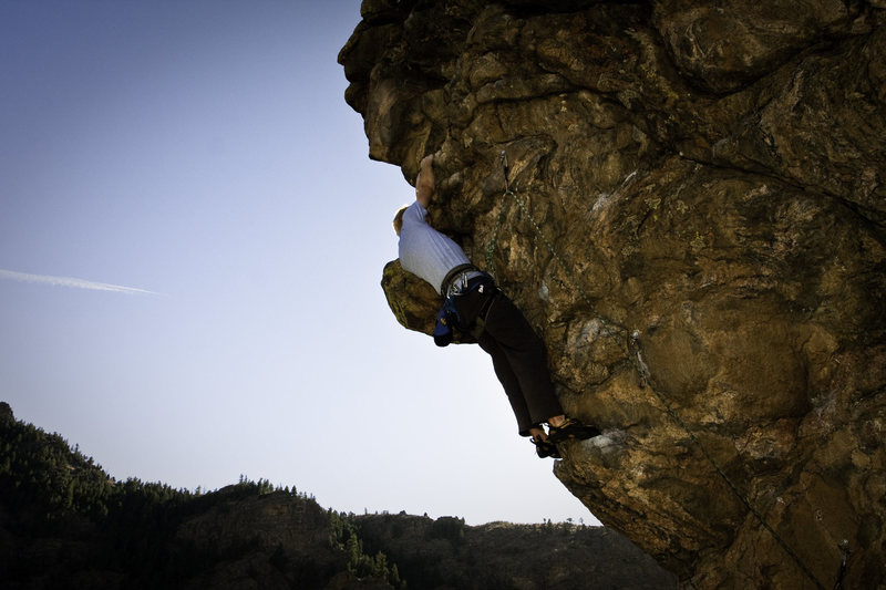 Rock Climbing Photo: The hipster.