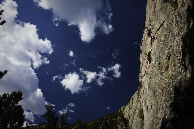 Rock Climbing Photo: Kyle on Squid Kid.