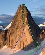 Rock Climbing Photo: Bugaboo Corner on Snowpatch Spire Photo by MP cont...