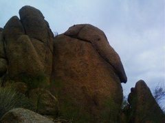Rock Climbing Photo: Profile of the Route and Rock. The route goes up t...