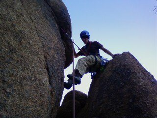 Rock Climbing Photo: Atop the chimney