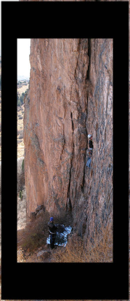 Rock Climbing Photo: This is the left variation up New Era; it seems si...
