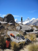 Rock Climbing Photo: Andrew Gomoll surveys the Paron Valley, Peru.