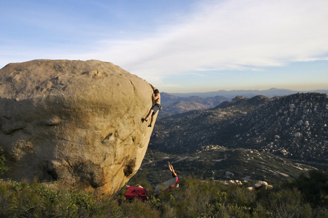 "Rock Climbing Photo: ""Ethan Pringle topping out  on one of the cla..."